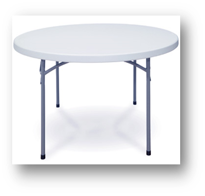 "Folding Table - Round -60"" [BT60R]"