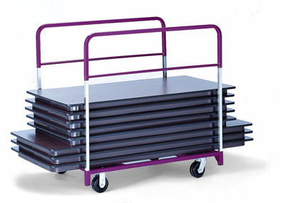Folding Table Storage Carts (with side rails)