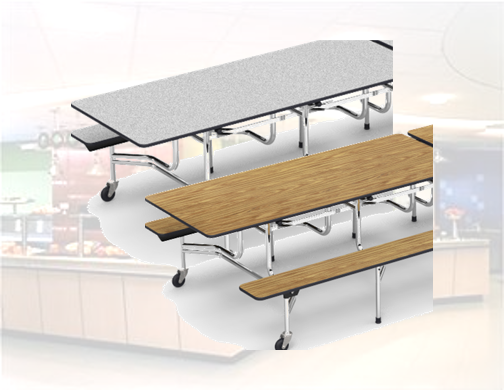 "Mobile Cafeteria Bench - 30""x96"" [MTB172912]"