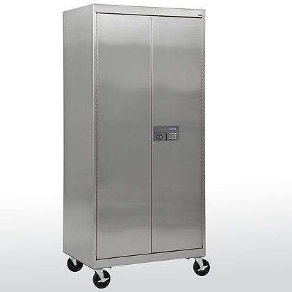 Stainless Storage Cabinet with Padlock