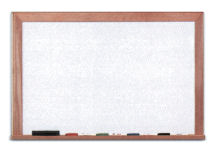 White Boards- [Porcelain- Oak Frame]