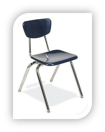 Hard Plastic 4-Leg Chair [3018]