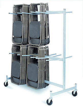 2-Tier Folding Chair Cart- Holds 72 [#900]