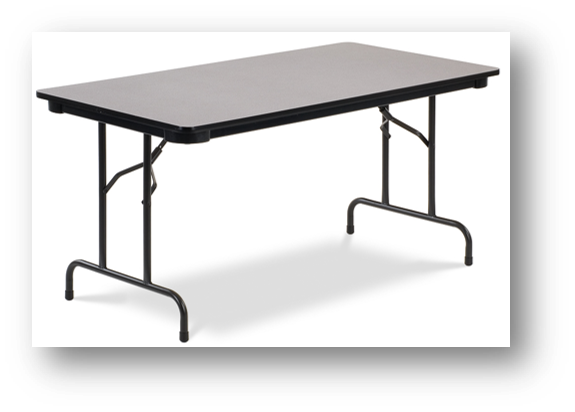 Folding Table- Rectangle- 3 Sizes