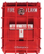 Hinged Fire Alarm Wire Guards [RED]