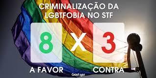 As mudanças depois da criminalização da homofobia comemorar ou depreciar?