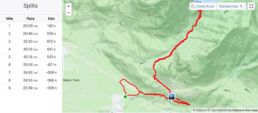 A trail map.