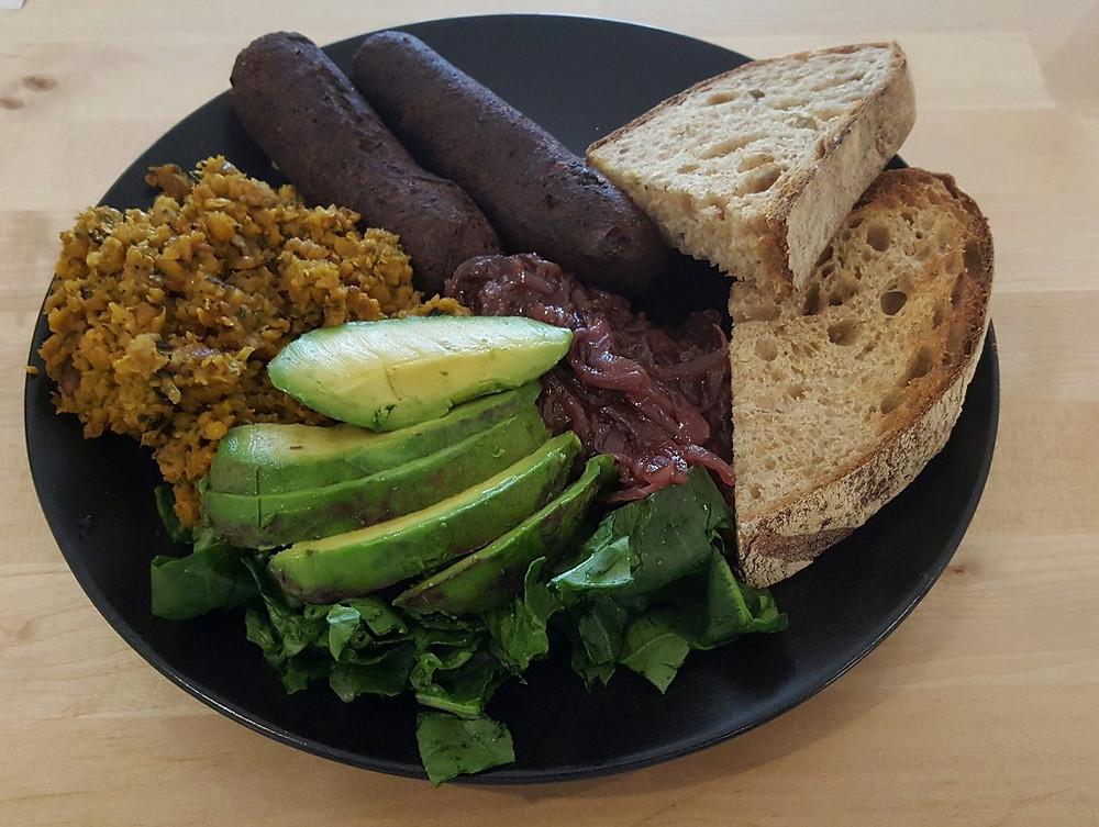 A breakfast plate