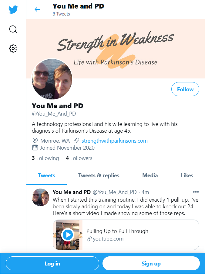 A screenshot of the @You_Me_And_PD Twitter page