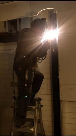 Post welding