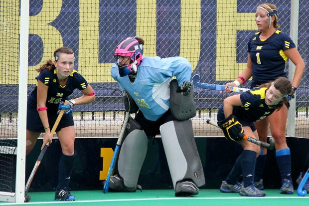 Haley in the net for Michigan!
