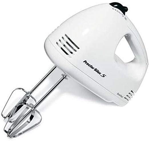 Proctor Silex White Hand Mixer