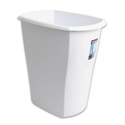 Sterilite White 13 Gallon Kitchen Wastebasket