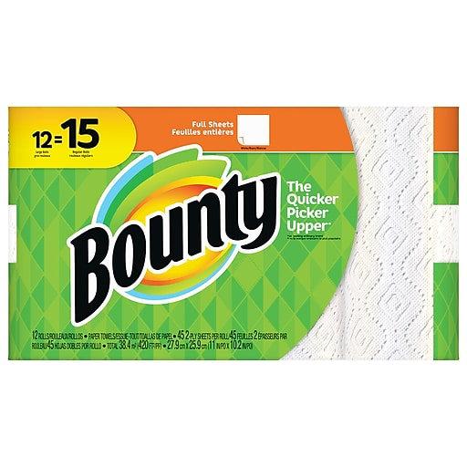 Bounty Paper Towels, 12 Rolls