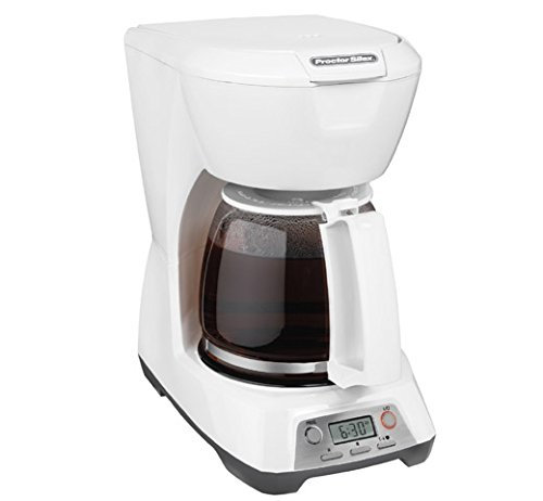 Proctor Silex White 12 Cup Programmable Coffee Maker