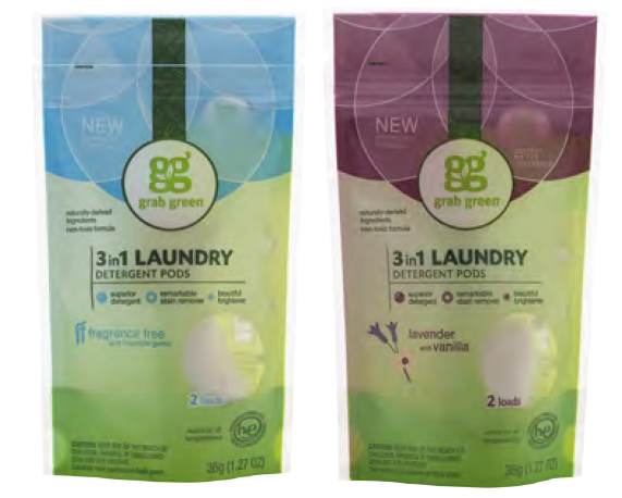 grab green Laundry Detergent Pods