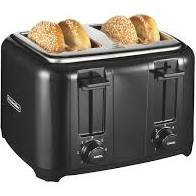 Proctor Silex Four Slice Black Toaster