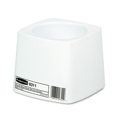 Rubbermaid Holder for Toilet Bowl Brush, White Plastic
