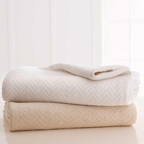 Grand Patrician® Herringbone Cotton Blanket
