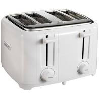 Proctor Silex Four Slice White Toaster