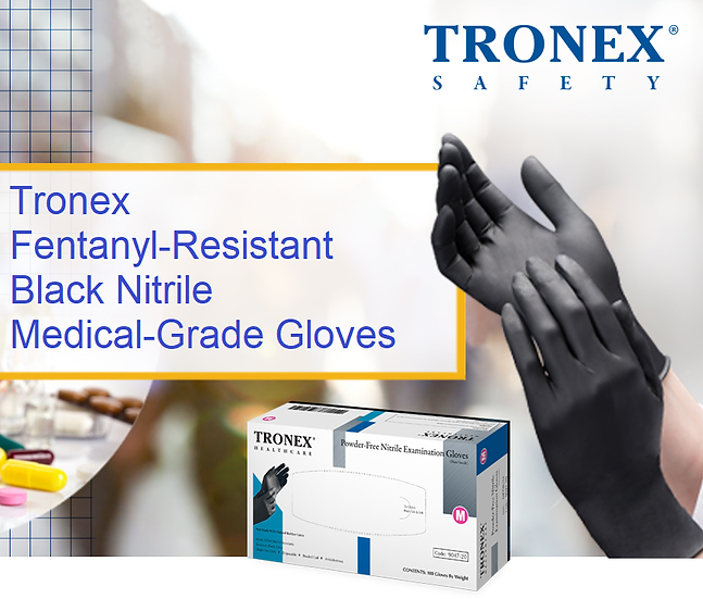 9047 TRONEX Black Nitrile Medical-Grade Disposable Gloves ($6.95)