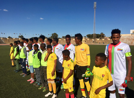 Eritrea Under 20 Football Team in Uganda for 2019 CECAFA Tourney.