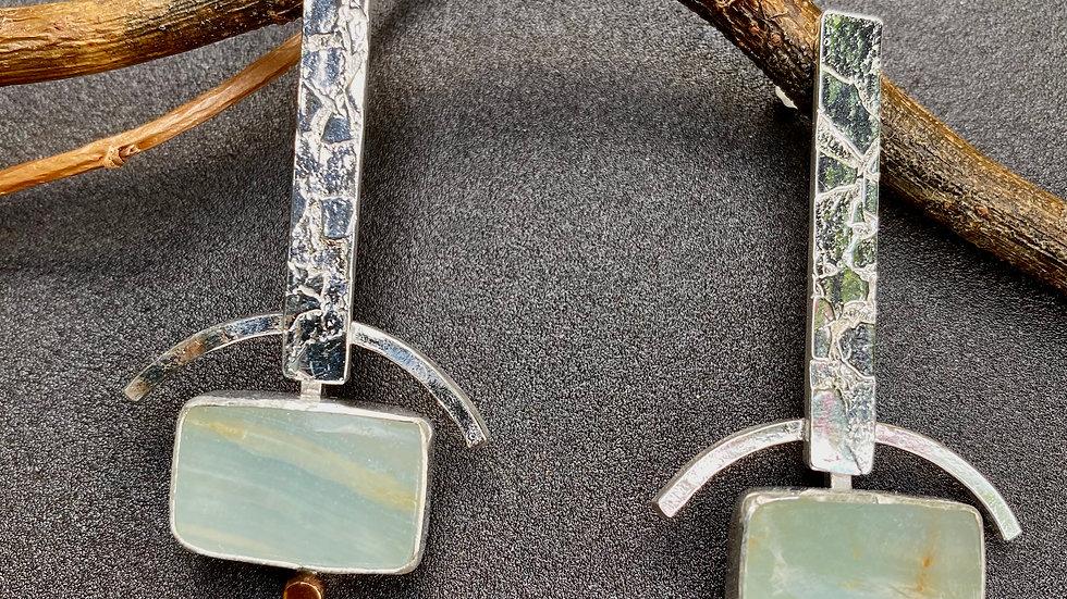 Blue Calcite Post Earrings