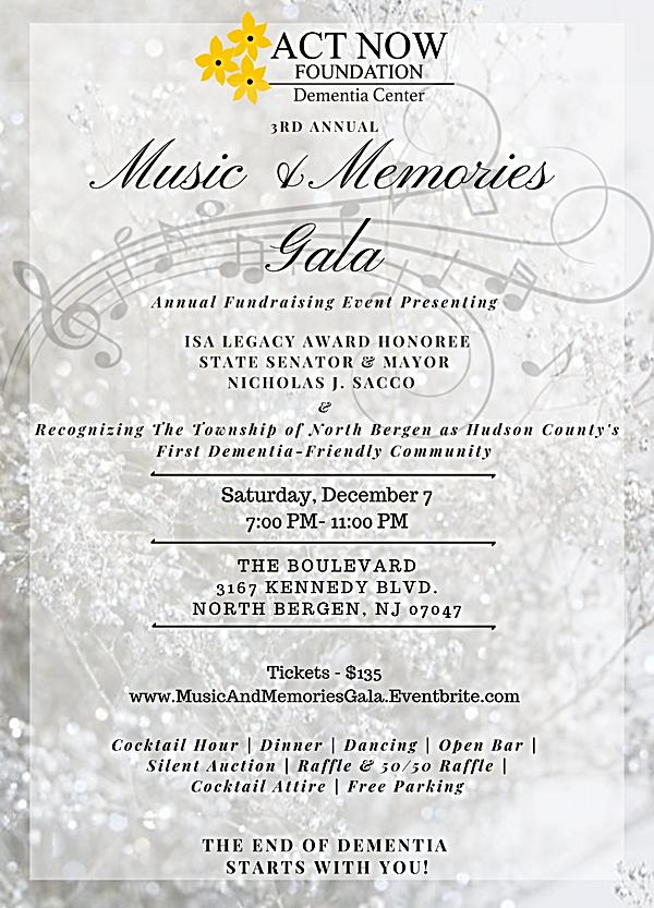 3rd Music & Memories Gala Flyer-no spons