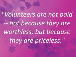 Volunteer quote
