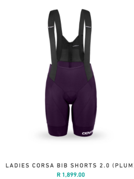 Ladies Corsa Bib Shorts 2.0 Plum