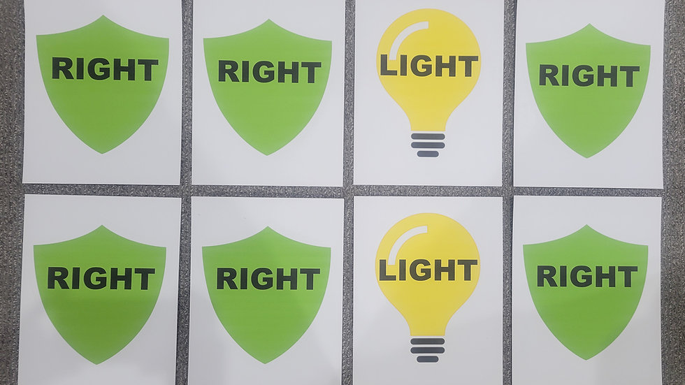 Choose the Right - RIGHT/LIGHT
