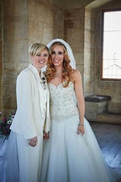 Two brides LGBT wedding