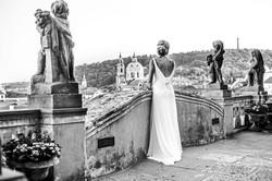 Bride stunning view