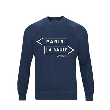 "Sweat ""PARIS / LA BAULE"" Navy"