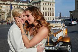 Two brides LGBTQ wedding