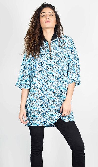 Robe Tunique TONIA   Bleu motif