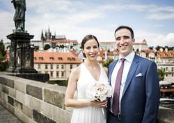Jewish wedding bride and groom