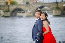 Chinese prewedding photoshoot Prague