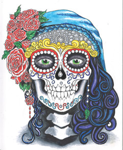 Living Sugar Skull