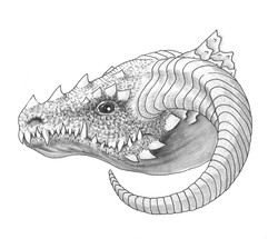 Dragon Head- Grayscale