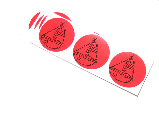 Sailboat Stickers / Set of 15 / Envelope Seal / Treat Bag Sticker / Party Favor