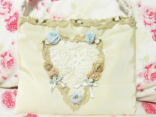 Shabby Chic Purse with a Heart~