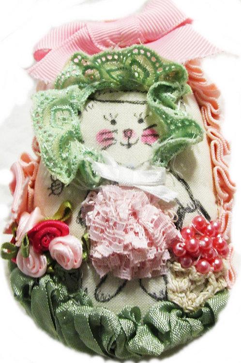 Shabby Chic Easter Egg, Fabric Egg, Handmade Fabric Easter Egg