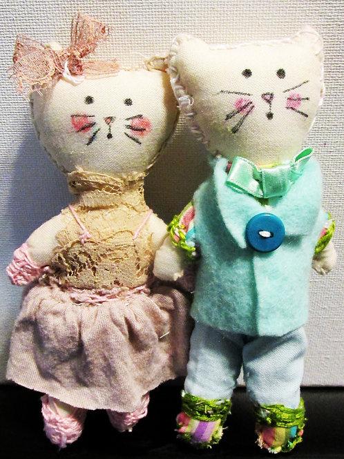 Cat Dolls, Kitty Dolls, Cloth Cat Dolls, Handmade Cats