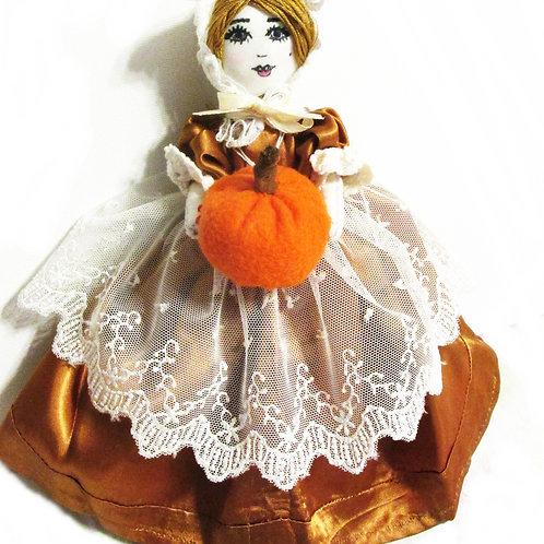 Thanksgiving Pilgrim Doll, Fall Doll, Handmade Ornament