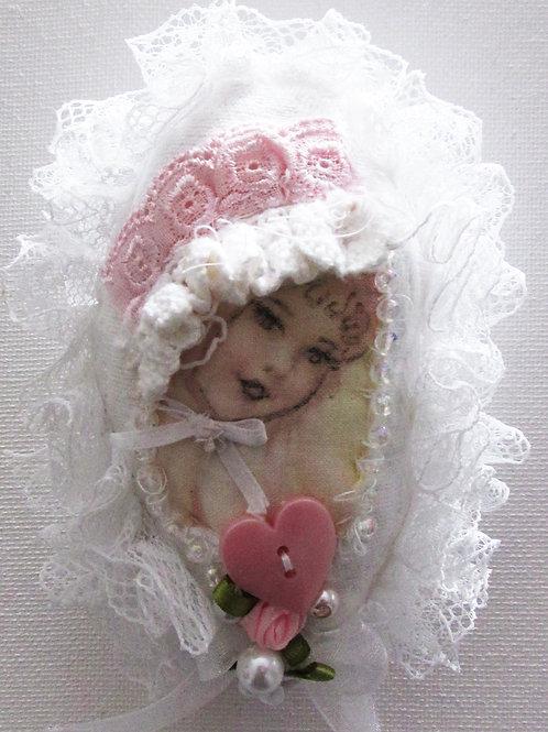 Easter Egg-Victorian Little Girl