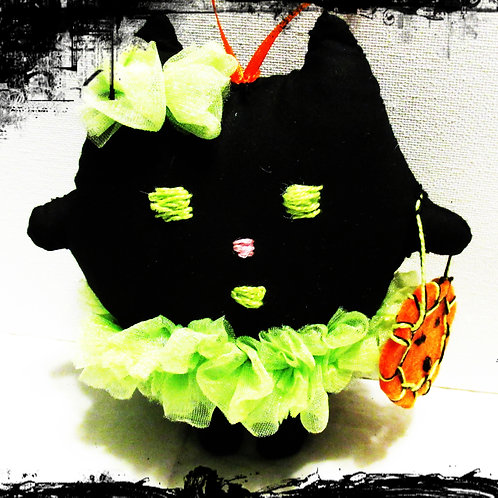 Halloween Cat Doll, Halloween Decoration, Puffie Cat