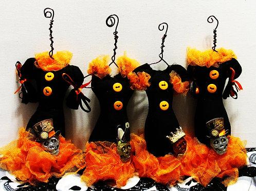 Halloween Dress Ornaments-Handmade Halloween Ornaments