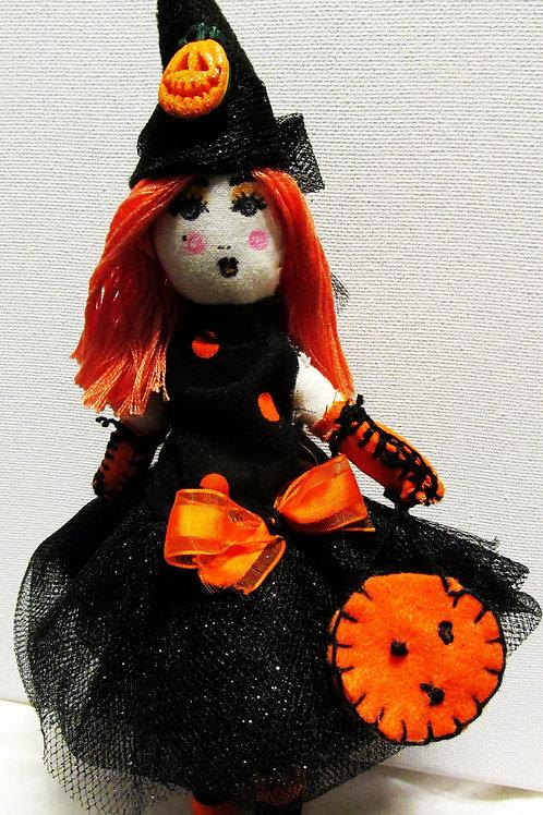 Orange and Black Halloween Doll