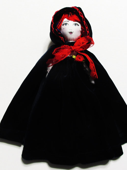 Hooded Cloak Doll, Patriotic Doll, Shabby Chic Doll
